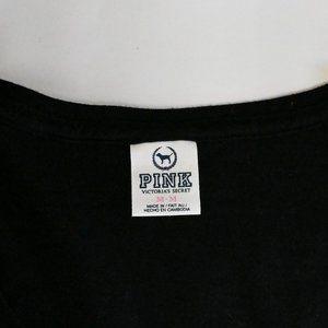 PINK Victoria's Secret Tops - Victoria Secret Black Tshirt SZ: M